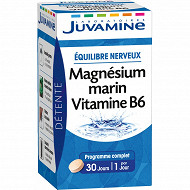 Juvamine magnésium marin vitamine B6, détente équilibre nerveux, 30 comprimés 22G