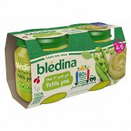 Bledina pots petites pois 2x130g
