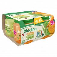 Bledina pots 1 épinards - 2 carottes - 1 haricots verts 4x130g