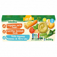 Bledina pots légumes / féculents / poisson / viandes 8x200g
