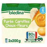Bledina pots purée carottes choux-fleurs 2 x 200g