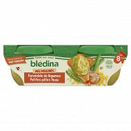 Idées de maman bols farandole de légumes petites pates veau 2x200g