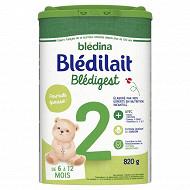 Blédilait premium formule épaissie 2ème âge de 6 à 12 mois 820g