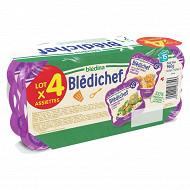 Blédina bledichef étuvée butturnut carotte boulgour polenta brocolis carotte des 15 mois 4x240g