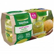 Blédina Purée Poireaux pommes de terre 2X130g dès 4/6 mois texture lisse