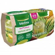 Bledina Pots Haricots Verts 2X130G 4/6 mois