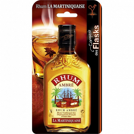 Blister Rhum ambre la Martiniquaise 20 cl 40% Vol.
