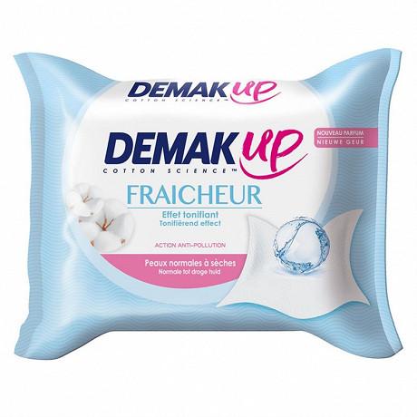 Demak'up fraîcheur lingettes démaquillantes peaux sèches ou sensibles x25