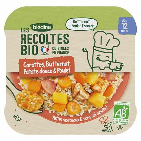 Bledina les récoltes bio cocotte de carottes butternut 230g