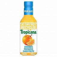 Tropicana oranges pressées sans pulpe pur jus pet 90cl