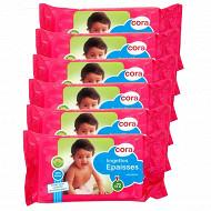 Cora lingettes bébé recharge x 72 lot de 6