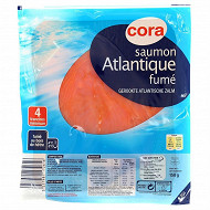 Cora saumon fumé Atlantique 4 tranches 150g