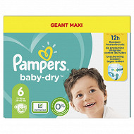 Pampers baby dry langes geant maxi taille 6