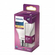 Philips ampoule LED classic 40W A60 B22 ww  boite de 1