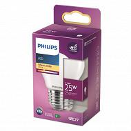 Philips ampoule led classic 25W P45 E27 WW FR ND RF boîte de 1