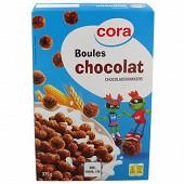 Cora kido boules de céréales soufflées chocolat 375 g