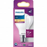 Philips ampoule led classic 75W A60 B22 WW non dimable boite de 1