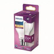 Philips ampoule LED classic 100W A60 B22 WW NON DIMABLE Boite de 1