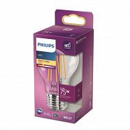 Philips ampoule led classic 75W E27 WW A60 CL ND RF boîte de 1