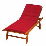 Anjosa bain de soleil 185x55ccm épaisseur 6cm rouge dm