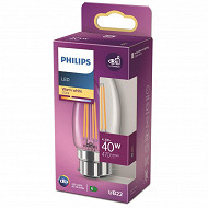 Philips ampoule LED classic 40W B35 B22ww cl nd