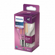 Philips ampoule led classic 60W A60 E27 CW CL ND boîte de 1