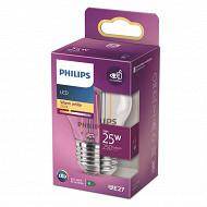 Philips ampoule LED classic 25W P45 E27ww cl nd