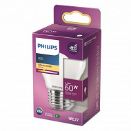 Philips ampoule LED classic 60W E27 WW P45 NON DIMABLE boite de 1