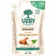 L'Arbre Vert Bien Etre - Recharge crème lavante mains amande douce bio 300ml