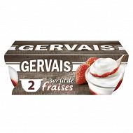 Gervais yaourt sur lit de fraise 2x115g