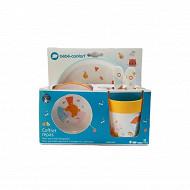 Set repas (assiette - bol - verre - cuillère + fourchette plastique) Bébé Confort