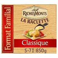 RichesMonts raclette 32 tranches classique 850g format familial