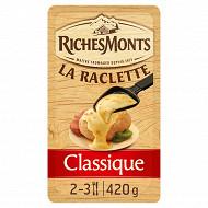 RichesMonts raclette 16 tranches tranchettes classique 26%mg 420g