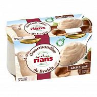 Rians gourmandise de brebis à la chataigne 100% lait de brebis 2x150g
