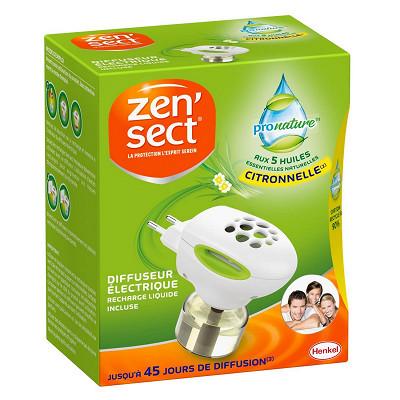 Zensect Zensect diffuseur électrique liquides 45 nuits