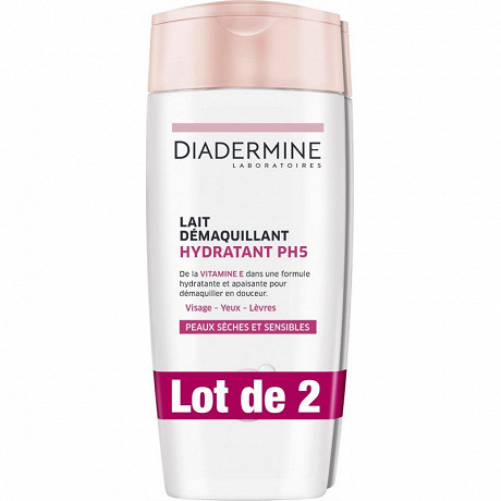 Diadermine lait demaquillant hydratant lot de 2x200ml