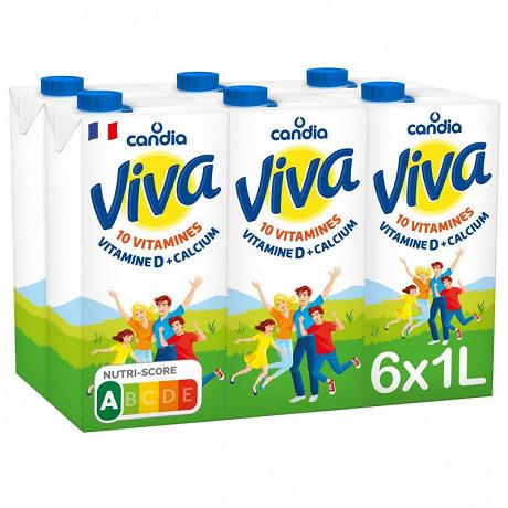 Viva lait à 1.2% de MG et 2.7% de lactose brique 6x1l