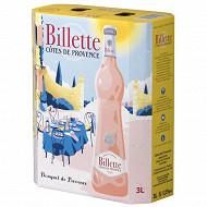 Listel billette tradition Cotes de Provence rosé 3L 12.5%vol