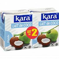 Kara lot 2 lait de coco 200ml