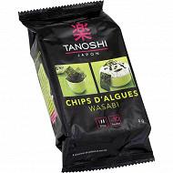 Tanoshi chips d'algues wasabi 4g