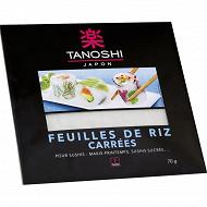Tanoshi feuilles de riz carrées 70g