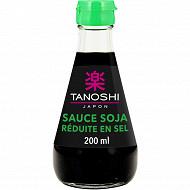 Tanoshi sauce soja sel réduit 200ml