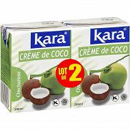 Kara crème de coco 2x200ml