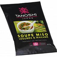 Tanoshi soupe miso légumes 65g