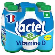 Lactel lait ecrémé uht bouteille 6x1l
