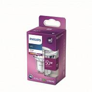 Philips ampoule LED classic 50W GU10 WH 36D NON DIMABLE boîte de 1