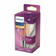 Philips ampoule led classic 100W E27 WW A60 CL ND RF boîte de 1