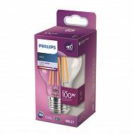 Philips ampoule led classic 100W E27 CW A60 CL ND boîte de 1