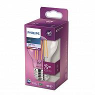 Philips ampoule led classic 75W E27 CW A60 CL ND boîte de 1