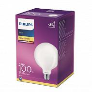 Philips ampoule LED classic GLOBE 100W E27 WW G120 NON DIMABLE boîte de 1